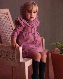 Vestido Infantil Plumeti guirnalda grana